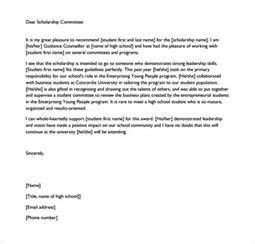 Certification Letter For Scholarship letters of recommendation for scholarship 26 free sample example