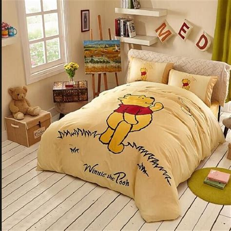 winnie the pooh bedroom sets yellow winnie pooh classic bedding in the grass winnie