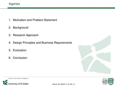 Dartmouth Mba Requirements by Strategic Business Requirements For Master Data Management