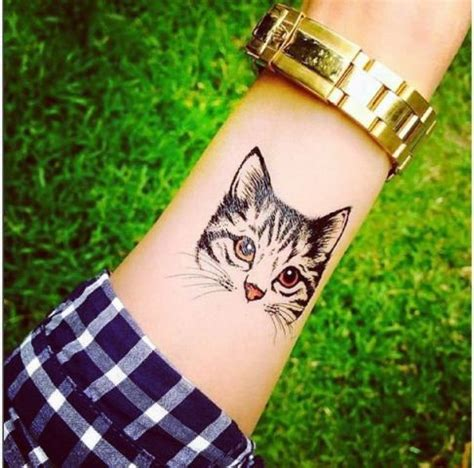 cool cat tattoo 22 small cat ideas for styleoholic