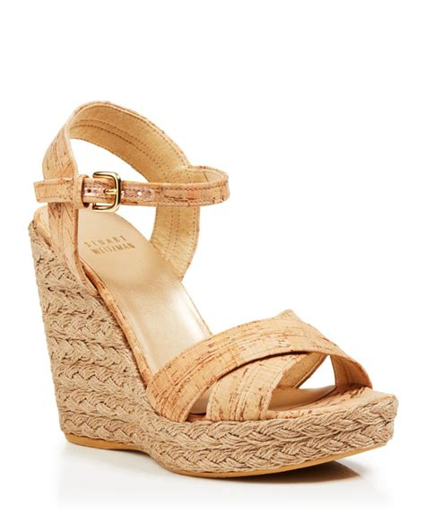 cork wedge sandal stuart weitzman platform wedge sandals numinx cork