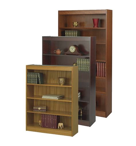 safco square edge bookcase 36 w x 12 d 48 h in 1363874