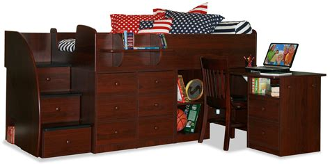 captain bed full berg furniture captain s bed full with pull out desk