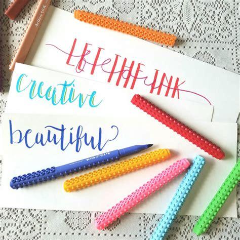 Artline Pulpen Kaligrafi 20 Calligraphy Marker 1 artline brush markers calligraphy pen set ombre