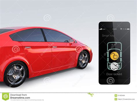 How To Unlock Car Door With Cell Phone by Car Door Lock And Unlock By Smart Phone Stock