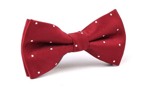 Maroon Dot 2 Year maroon with white polka dots bow tie bowtie bowties ties