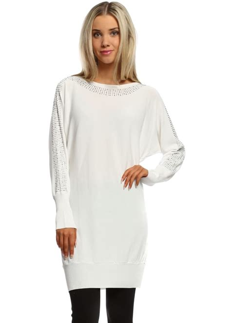 Leticia Tunic laetitia mem white tunic jumper silver jumper