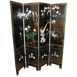 Japanese Room Divider Dual Sided 4 Panel Asian Screen Japanese Room Divider At 1stdibs