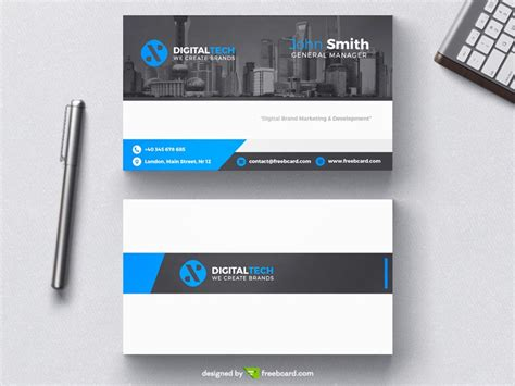 quantum digital post card template tech business card templates best business cards