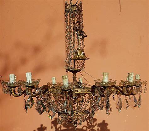 gocce di cristallo per ladari vendita ladario gocce cristallo bronzo argentato usato vedi