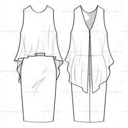 dress sketch template s flowy dress fashion flat template illustrator stuff
