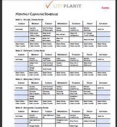 Restaurant kitchen cleaning schedule template
