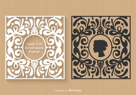 free laser cut vector frames download free vector art