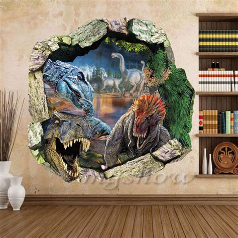 dinosaur 3d wall sticker decor decal mural home
