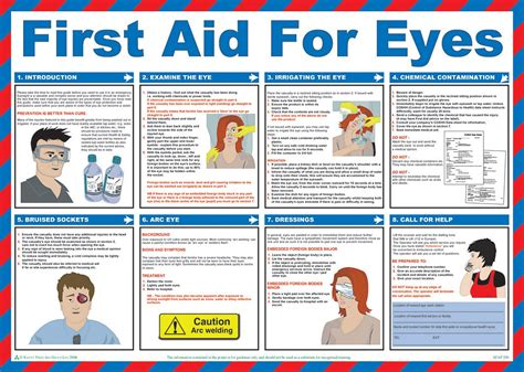printable hse poster first aid for eyes guide poster laminated 59cm x 42cm