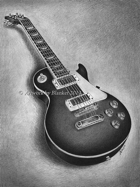 Les Paul Guitar Drawing by Blanket Joanna