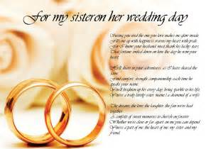 Poem poetry for my sister bride on her wedding day laminated ebay