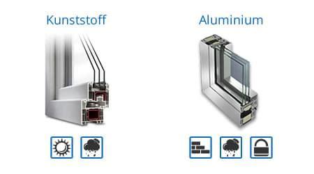 kunststoff oder aluminium haustür holzfenster kunststofffenster oder eine kombination mit alu