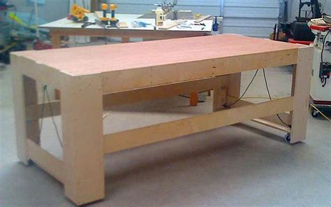 rolling work bench plans rolling work table plans diywoodtableplans