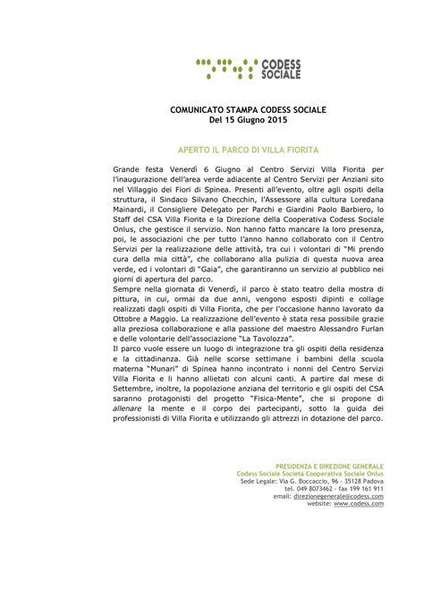 villa fiorita spinea codess sociale societ 224 cooperativa sociale onlus
