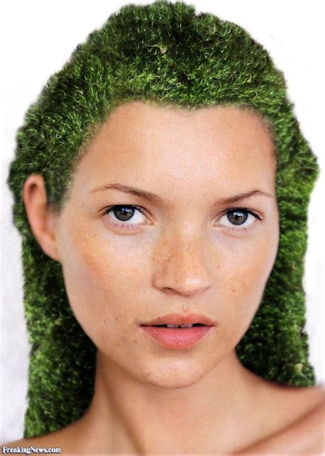 with hair kate moss with green moss hair pictures freaking news