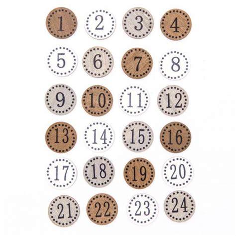 Adventskalender Zahlen Holz by Adventskalender Zahlen Holz Rund Natur 24 St 252 Ck Idee