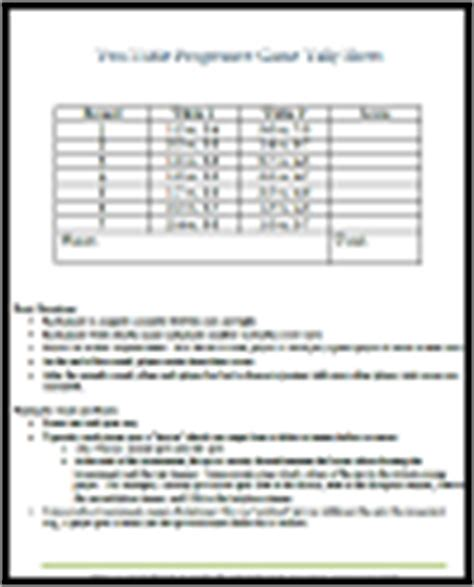 two table progressive tally progressive tally sheet for two tables