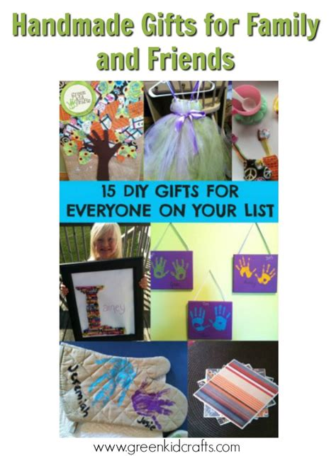 Handmade Gifts For Family - diy gift guide for family and friends green kid crafts