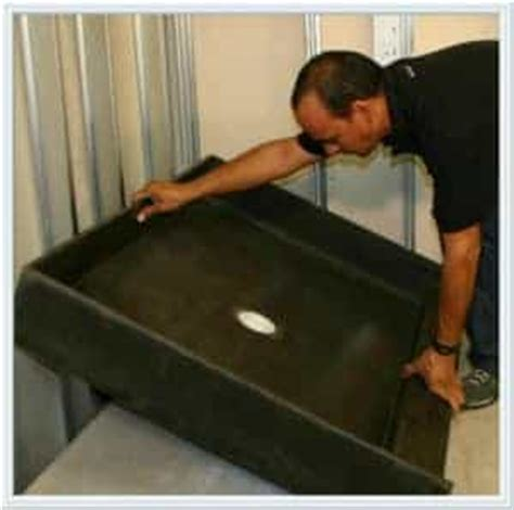 Putting In A Shower Pan by Shower Pan Installation Speedway Plumbing Houston