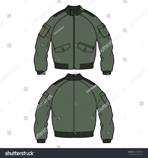 bomber jacket template fashion bomber jacket vector outdoor apparel stock vector