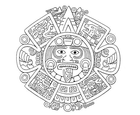 Quadriformisratio Four Fold Thinking4you Pagina 5 Aztec Calendar Coloring Page