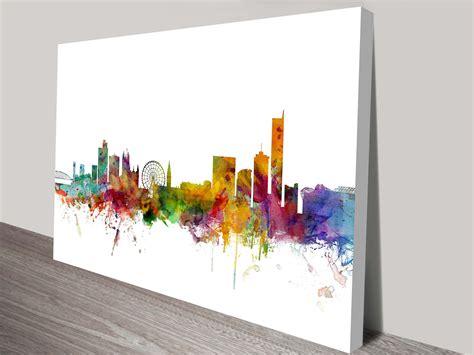 canvas prints manchester england skyline wall art canvas print