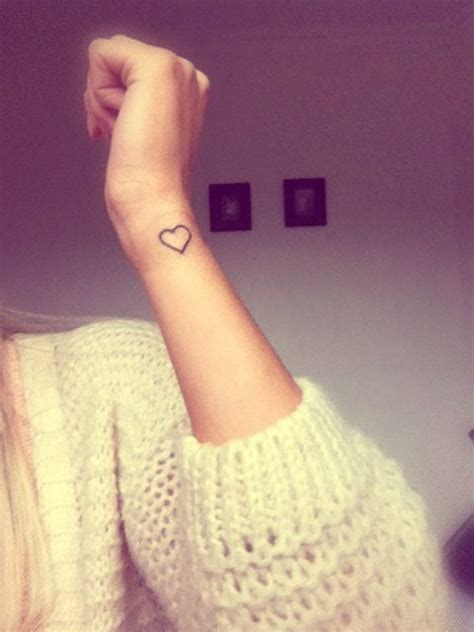 small love heart tattoo on wrist my on my wrist