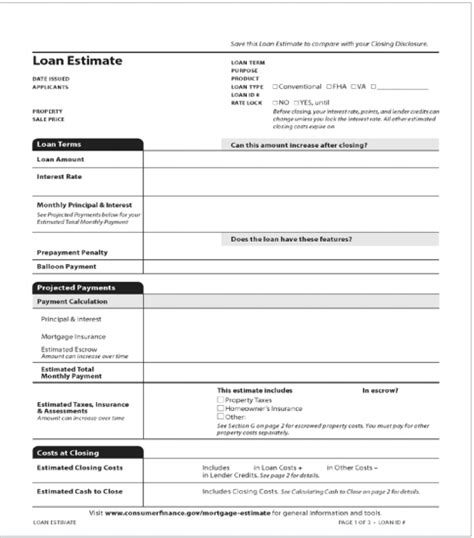 obtaining a home loan new disclosure update october 3