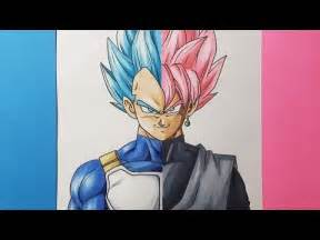 drawing vegeta vs goku black super saiyan blue vs super
