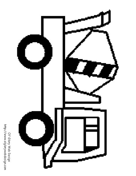 Construction Signs Coloring Pages construction truck pictures az coloring pages