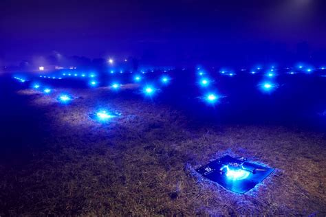 drone with and lights 100 drones set breathtaking record earthtripper