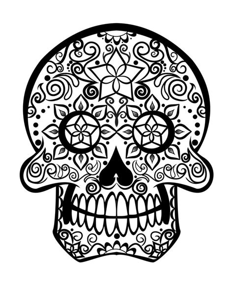 complicolor sugar skull printable pages and coloring
