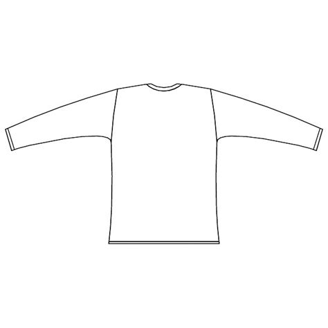 Long Sleeved Shirt Back View Download At Vectorportal Blank Sleeve T Shirt Template