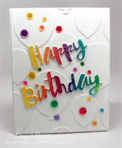 simon says st painted happy birthday wafer die sssd111559 happy and sts