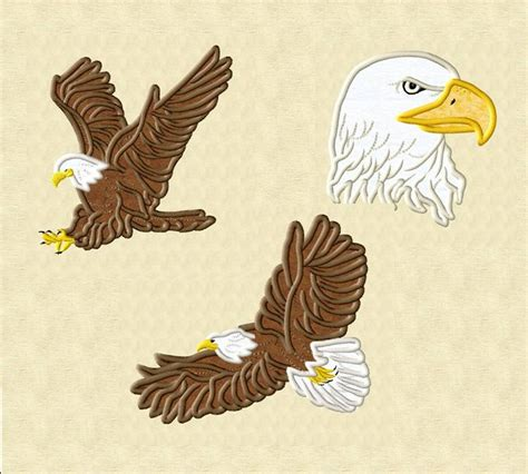 eagle applique eagle applique collection machine embroidery designs by
