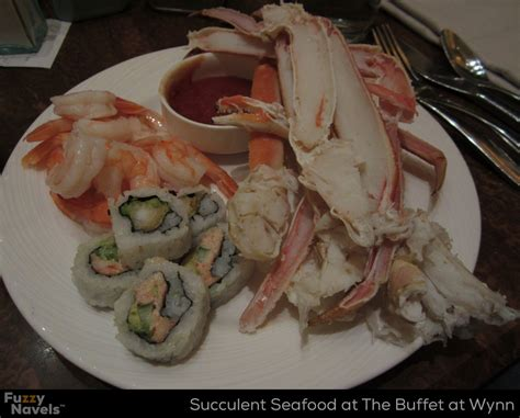 crab legs and shrimp at the buffet at wynn fuzzy navels