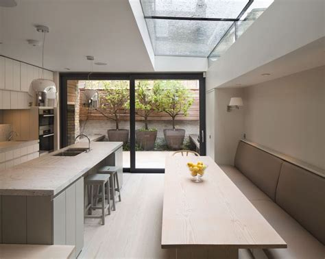 kitchen extension layout side return extension with architectural glazing