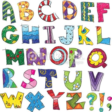 Abc Los Ni 241 Os Ertido Vector Alfabeto Arte Vectorial