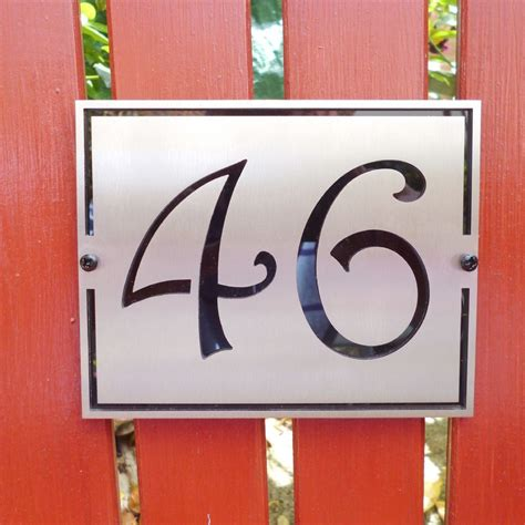 Italianate House Number Plaque