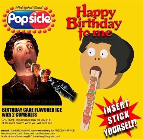 birthday themed horror movies happy birthday to me popsicle horror themed food