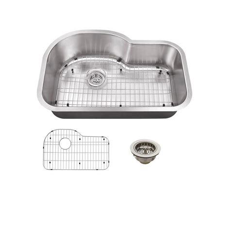 schon all in one undermount stainless steel 31 5 in single basin kitchen sink scsbe18 the