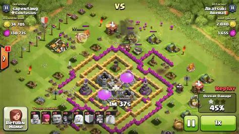 coc layout th7 anti giant coc anti giant farming base th7 youtube