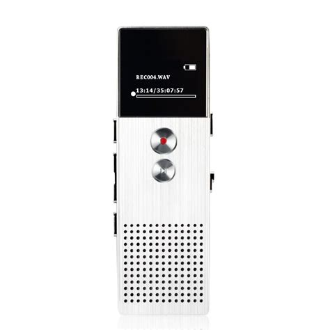 Remax Rp1 Digital Voice Recorder Perekam Suara Silver professional audio recorder 8gb metal voice tracker portable business digital voice recorder