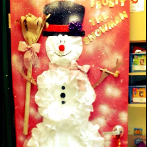 frosty the snowman christmas decorations frosty the snowman door decorating education snowman door snowman door
